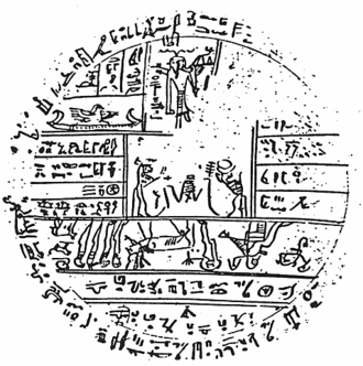 Joseph Smith Hypocephalus - A copy of the Hypocephalus of Sheshonq, from the Kirtland Egyptian Papers
