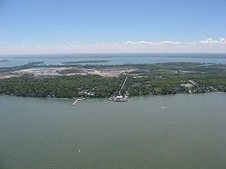 Lakeside, Ohio - Lakeside's shoreline