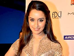 Shraddha Kapoor at Delhi Couture Week 2011..jpg