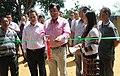 Shri K. Lianzuala, MLA, Tuikum Constituency, inaugurates the Bharat Nirman Public Information Campaign, at Chhiahtlang in Serchhip District, Mizoram on September 23, 2011.jpg