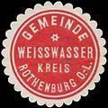 Siegelmarke Gemeinde Weisswasser Kreis Rothenburg Ober-Lausitz W0334307.jpg