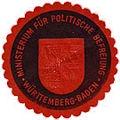 Siegelmarke Ministeriums für politische Befreiung Württemberg-Baden.jpg