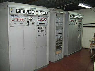 HCJB - A Siemens single side-band transmitter at Radio Station HCJB's international transmitter site in Pifo, Ecuador