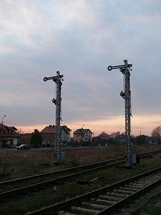 Sierpc railway station - Image: Sierpc semafory