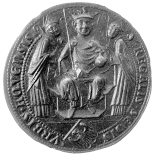 Charlemagne Prize - The mediaeval city seal of Aachen on which the design of the prize medal is based