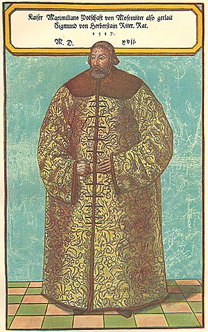 Sigismund von Herberstein - Sigismund von Herberstein in Russian dress