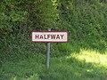Sign, Halfway - geograph.org.uk - 405720.jpg