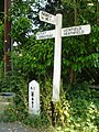Sign post and mile post next to Chequers Inn - geograph.org.uk - 20990.jpg