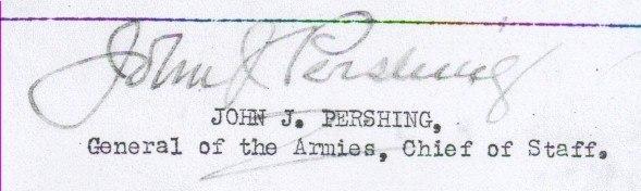 Signature of John J. Pershing