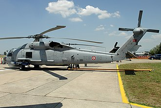 Turkish Naval Forces - A Sikorsky S-70B-28 Seahawk of the Turkish Naval Forces.