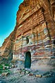 Silk tomb, The rich colour of sandstone is said to be changing during the day!. Petra.jpg