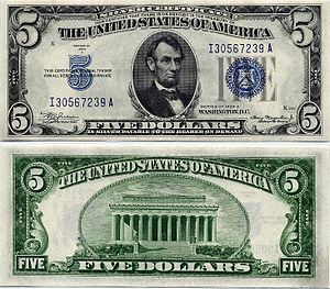 Silver as an investment - U.S. $5 silver certificate