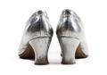 Silvriga skor. Foto till boken: Ett sekel av dräkt och mode ur de Hallwylska samlingarna - Hallwylska museet - 89382.tif