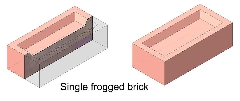 Single frogged brick