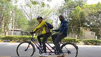 Tandem bicycle - Single speed tandem bicycle in India