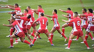 Tonga national rugby league team - Tonga performing the Sipi Tau