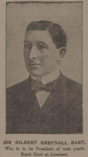 Gilbert Greenall, 1st Baron Daresbury - Sir Gilbert Greenall, Bart., circa. 1909.