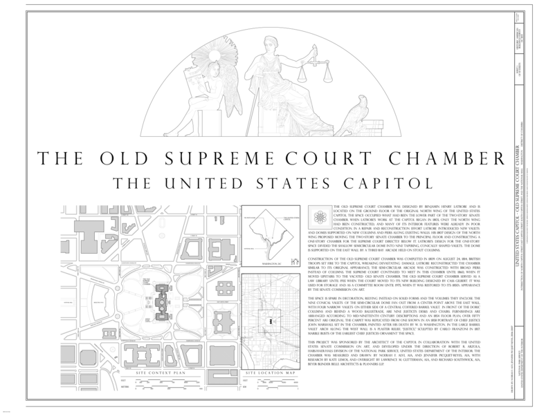 FileSite Plan And Map US Capitol Old Supreme Court Chamber - Us supreme court map