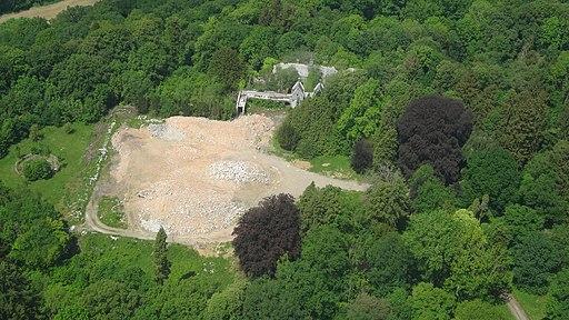 Site chateau Miranda destroyed 2018