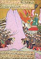 Siyer-i Nebi - Muhammad erhält Offenbarung -wahy- während der Schlacht von Badr durch Gabriel -dschabrail-.jpg