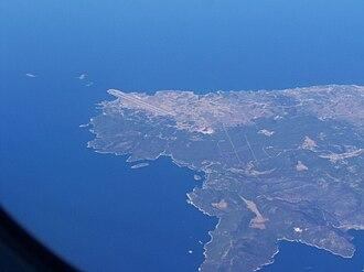 Skyros - Image: Skyros airport aerial 2008