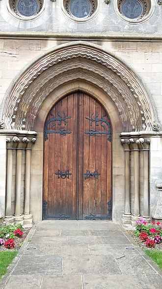 St Denys' Church, Sleaford - Image: Sleaford St Denys west door