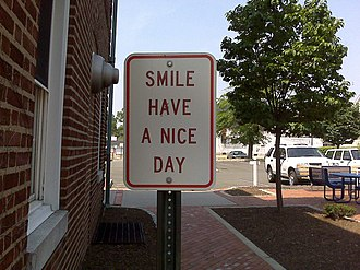 Have a nice day - Image: Smile have a nice day sign