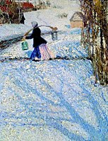 Snow in March by Igor Grabar, 1904.jpg