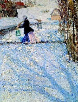 Igor Grabar - Snow in March, 1904.