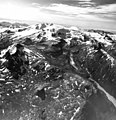 Snowy Mountain and Rainbow River, terminus of valley glacier in the midground, and mountain glaciers in the background, August (GLACIERS 7048).jpg