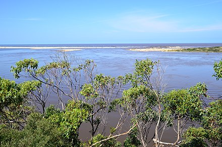 Snowy River mouth at Marlo in flood, 2012. Snowy River mouth at Marlo.JPG