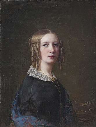 1862 in Sweden - Self-portrait, Sofia Adlersparre.