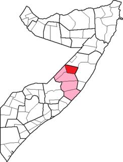 District in Galguduud, Somalia