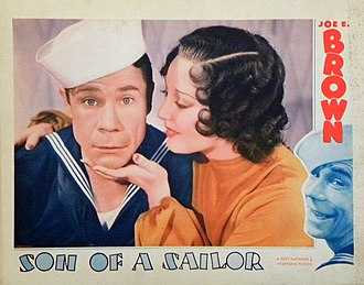 Joe E. Brown - Lobby card for Son of a Sailor (1933)