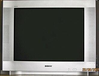 Television set - A Sony Wega CRT television set