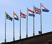 South Africa Capetown Castle Flags