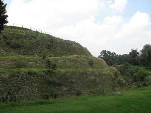 Cuicuilco - South side of the pyramid
