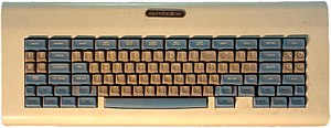 "Keyboard layout - The MIT ""space-cadet keyboard"", an early keyboard with a large number of modifier keys. It was equipped with four keys for bucky bits (""control"", ""meta"", ""hyper"", and ""super""); and three shift keys, called ""shift"", ""top"", and ""front""."
