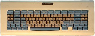 "Keyboard layout - MIT ""space-cadet keyboard"", an early keyboard with a large number of modifier keys. It was equipped with four keys for bucky bits (""control"", ""meta"", ""hyper"", and ""super""); and three shift keys, called ""shift"", ""top"", and ""front""."