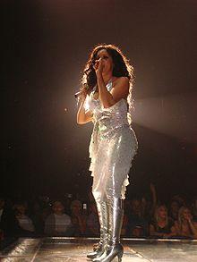 Melanie Brown durante il ritorno del tour delle Spice Girls a Detroit, il 16 febbraio 2006