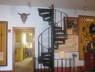Pioneer Spiral Staircase, Deaf Smith County Historical Museum, Hereford,  Texas.