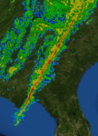 Squall line South Georgia and Florida 31 January 2016 0000UTC.png