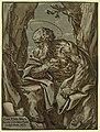 St. Jerome - Guid. Rhen. inuen., Barthol. Coriolanus, eques, sculpsit bonon. LCCN2008678746.jpg