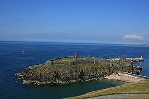 Peel Castle - St. Patrick's Isle from Peel Hill
