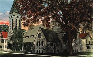 St. Mark's Episcopal Church (Augusta, Maine) - Postcard view of the church, c. 1900