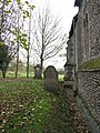 St Andrew's church - headstones by the north wall - geograph.org.uk - 1576764.jpg