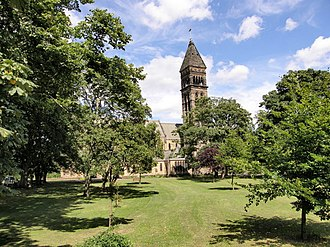 William G. Whittaker - St George's Church and Green in Jesmond, where Whittaker played the organ as a schoolboy