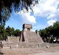 The Aztec Pyramid at St. Cecilia Acatitlan, Mexico State.