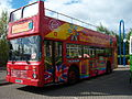 Stagecoach bus 14669 Leyland Olympian Northern Counties H669 BNL City Sightseeing full open top Metrocentre rally 2009 3.JPG