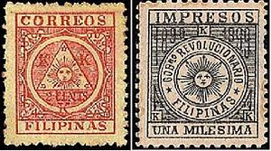First Philippine Republic - The postage stamps of the Revolutionary Government.